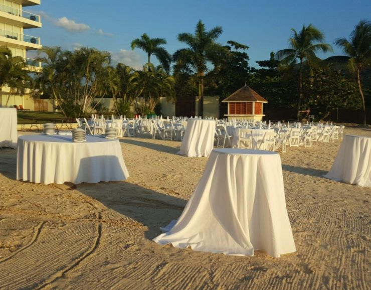 Moon Palace Jamaica Beach Destination Wedding Reception