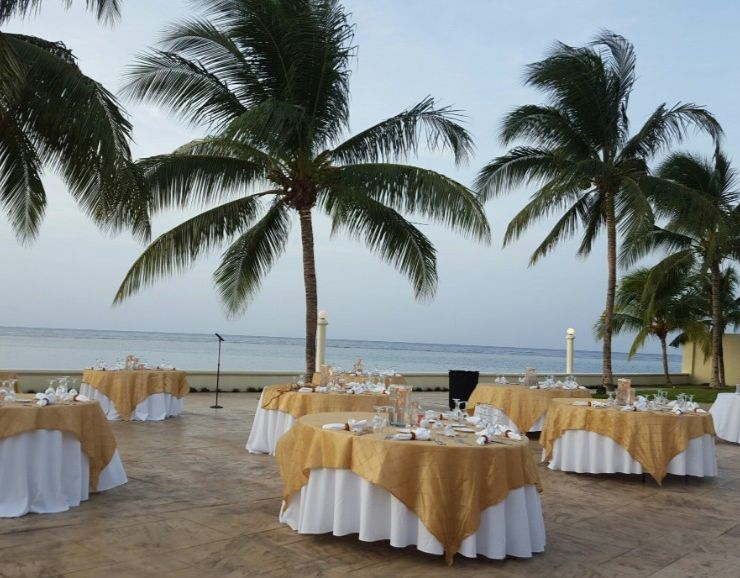 Moon Palace Jamaica Beach Destination Wedding Terrace Banquet