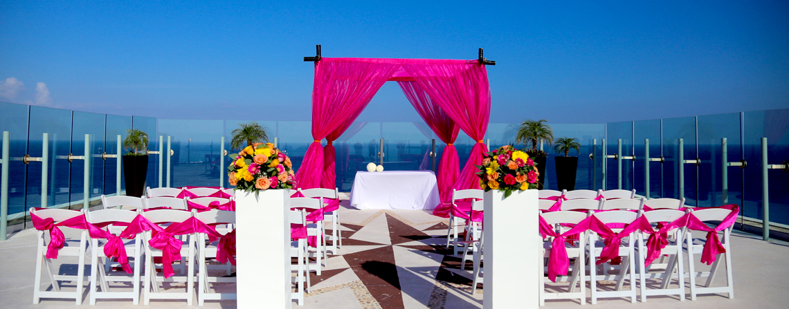 Beach Palace Sky Wedding Desk