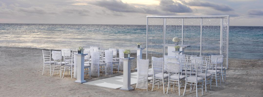 Beach Side wedding Event in The Grand at Moon Palace Cancun