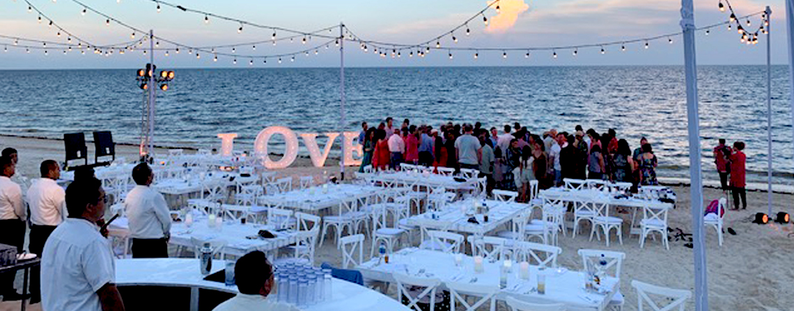The Grand At Moon Palace Cancun Beach Wedding