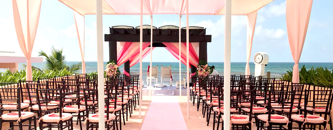 Beach Side Wedding Event in Now Jade Riviera Cancun
