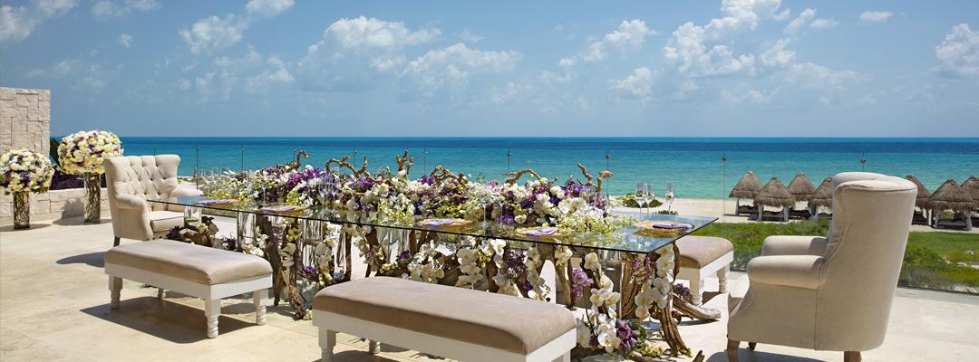 Dreams Playa Mujeres Golf & Spa Resort Beach Wedding Dining Area