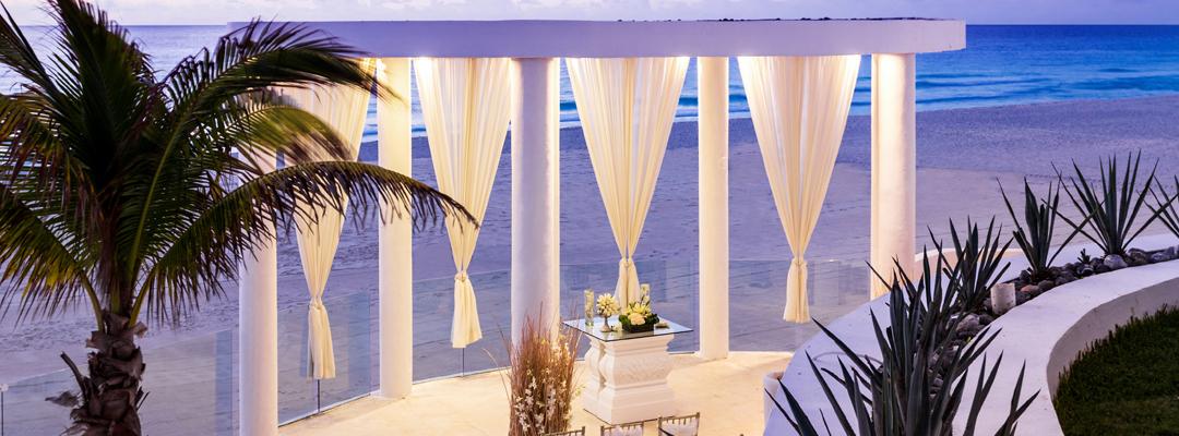 Le Blanc Spa Resort Cancun Beach View Destination Wedding