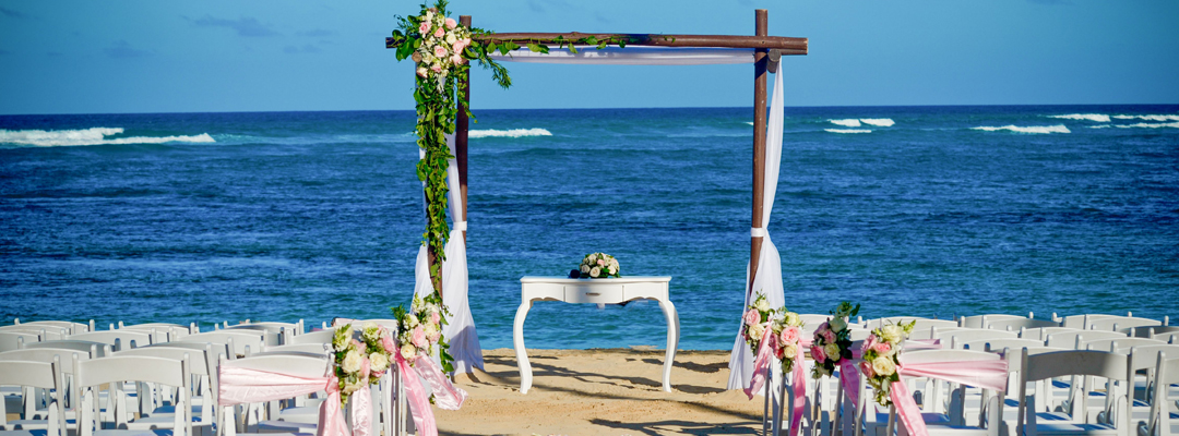 Now Onyx Punta Cana Beach VIew Destination Wedding