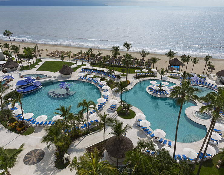 Hard Rock Hotel Vallarta Beach Side Pool Aerial View
