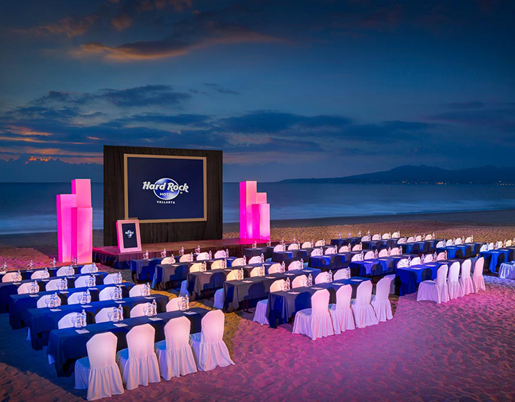 Hard Rock Hotel Beach View Destination Wedding