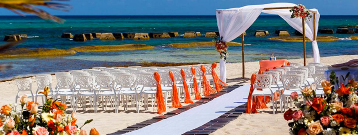 Generations Riviera Maya Beach View Destination Wedding