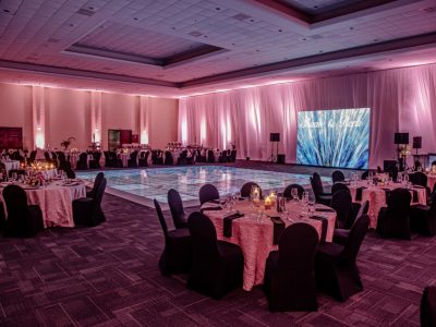 grand ballroom edr draping 2 sides