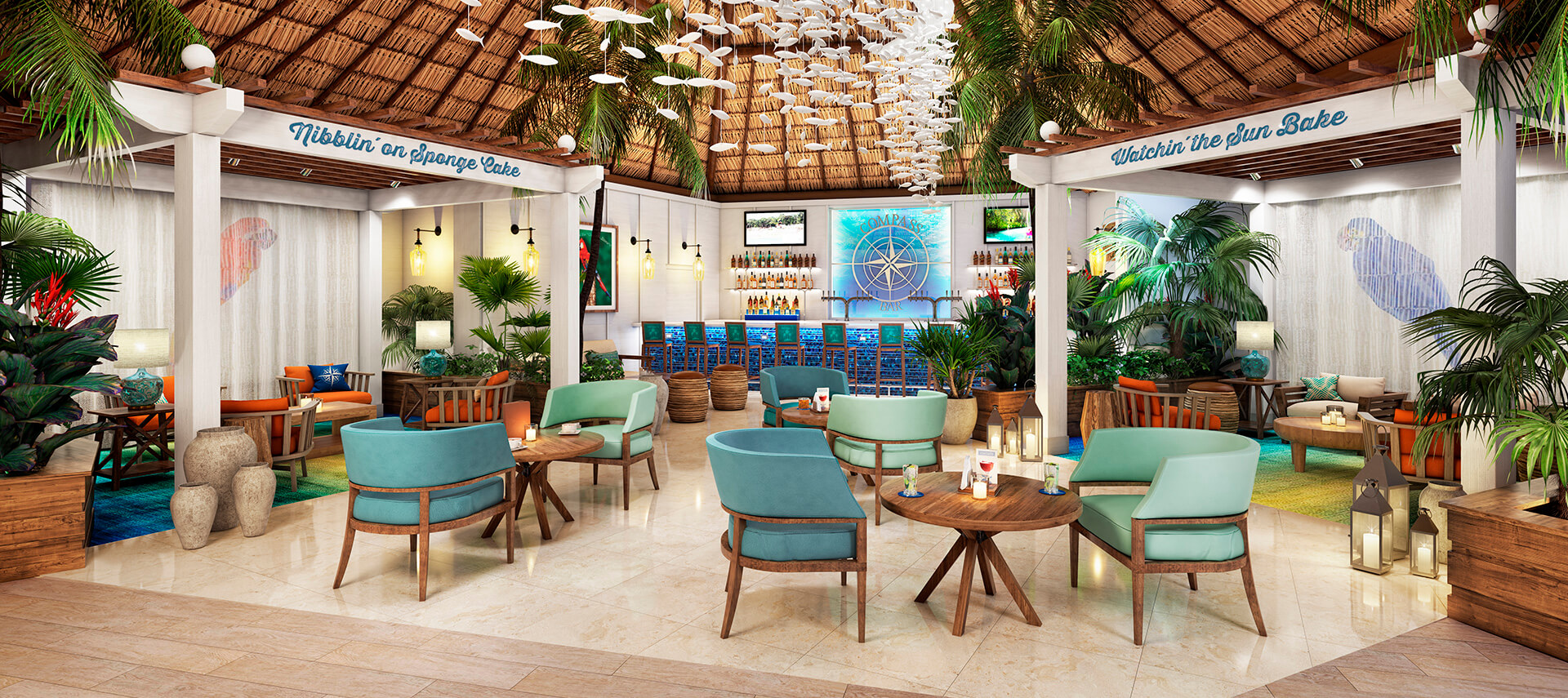 Margaritaville Resort Destination Wedding Compass Bar