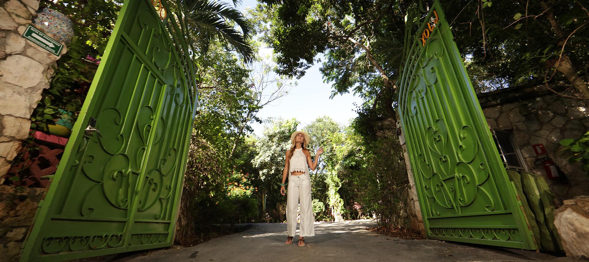 Xolumado Village Destination Wedding Entrance Gate