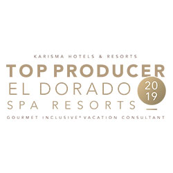 KARISMA HOTELS & RESORTS TOP PRODUCER EL DORADO SPA RESORTS 2019