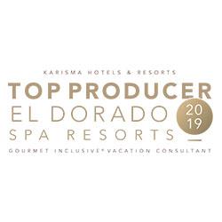 KARISMA HOTELS & RESORTS TOP PRODUCER EL DORADO SPA RESORTS 2019