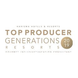 KARISMA HOTELS & RESORTS TOP PRODUCER GENERATION RESORTS 2019